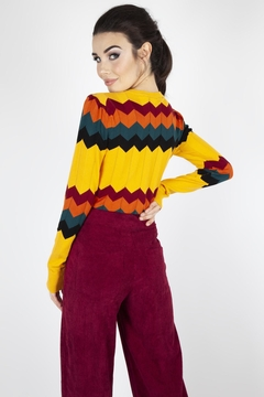 Voodoo Vixen Chevron Knit Cardigan - Alternate List Image