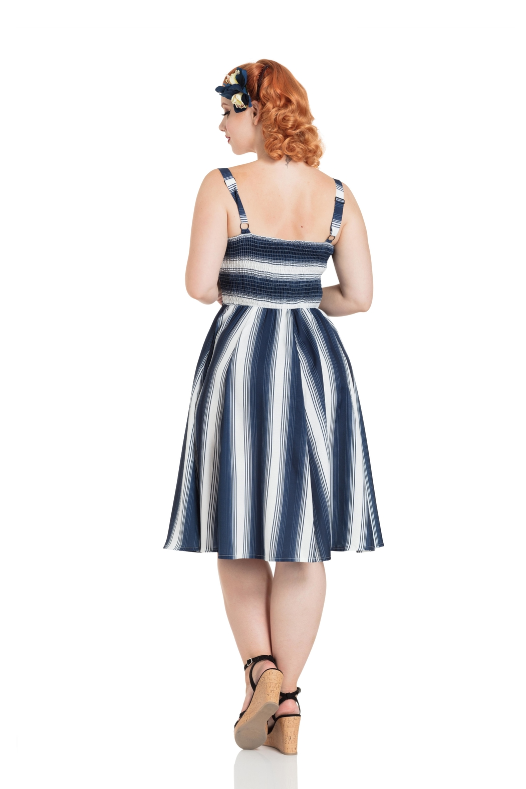 Voodoo Vixen Kayla Nautical Dress - Front Full Image