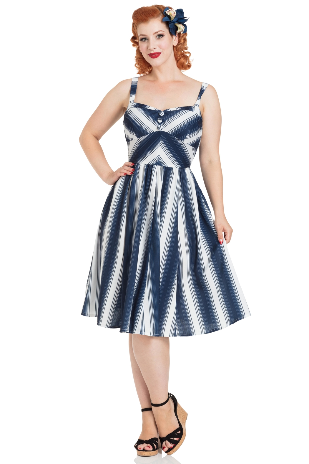 Voodoo Vixen Kayla Nautical Dress - Main Image