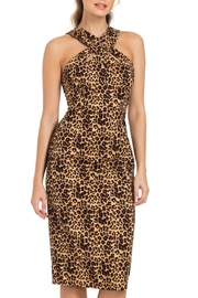 Voodoo Vixen Lauren Leopard Pencil-Dress - Product Mini Image