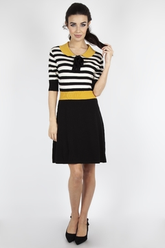 Voodoo Vixen Penny Striped Knit-Dress - Product List Image
