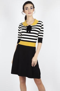 Voodoo Vixen Penny Striped Knit-Dress - Alternate List Image