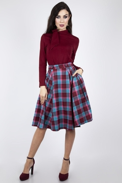 Voodoo Vixen Piper Pleated Flare-Skirt - Product List Image
