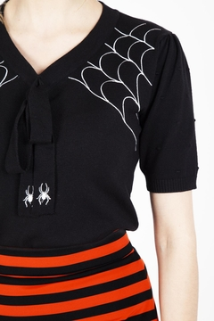 Voodoo Vixen Sultry Spiderweb Sweater - Alternate List Image