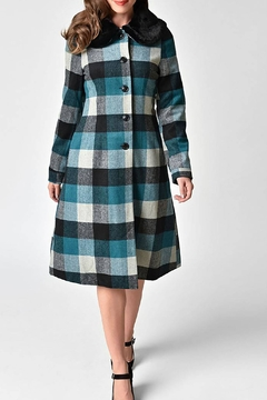 Shoptiques Product: Woolly Check Coat