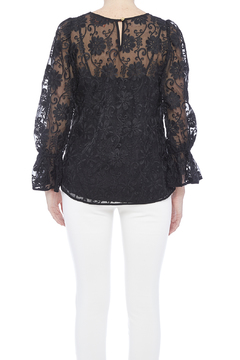 Voom Black Embroidered Top - Alternate List Image