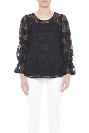 Voom Black Embroidered Top - Side cropped