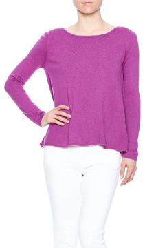 Voom Purple Cross Back Sweater - Alternate List Image