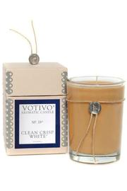 Votivo Clean White Candle - Front cropped