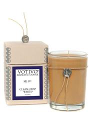 Votivo Aromatic Candles Crisp White Candle - Product Mini Image