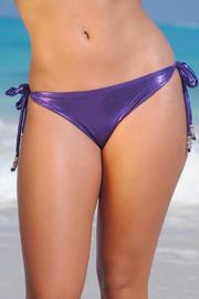 Vulcano Swimwear Metallic Purple Bottom - Product Mini Image
