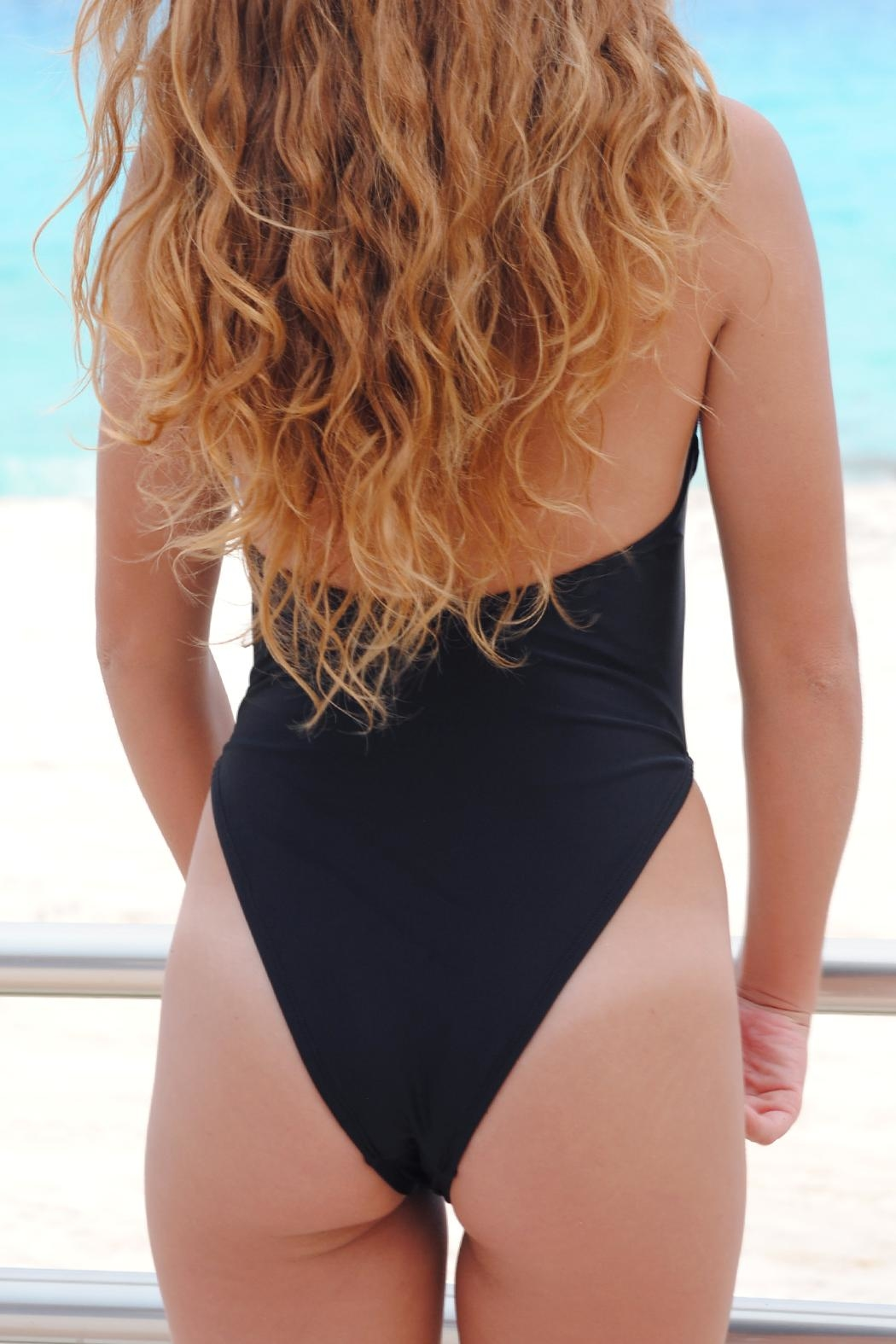Vulcano Swimwear One-Piece Strips Swimsuit - Front Full Image