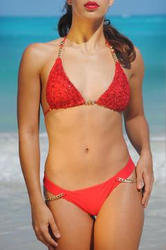 Shoptiques Product: Sparkly Red Bikini Top