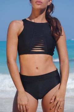 Shoptiques Product: Sporty Black Crop Top