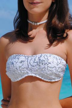 Shoptiques Product: White Sparkly Strapless