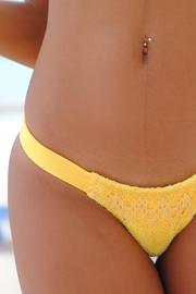 Vulcano Swimwear Yellow Crochet Bottom - Product Mini Image