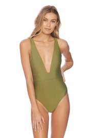 Vyb Olive Plunge One-Piece - Back cropped