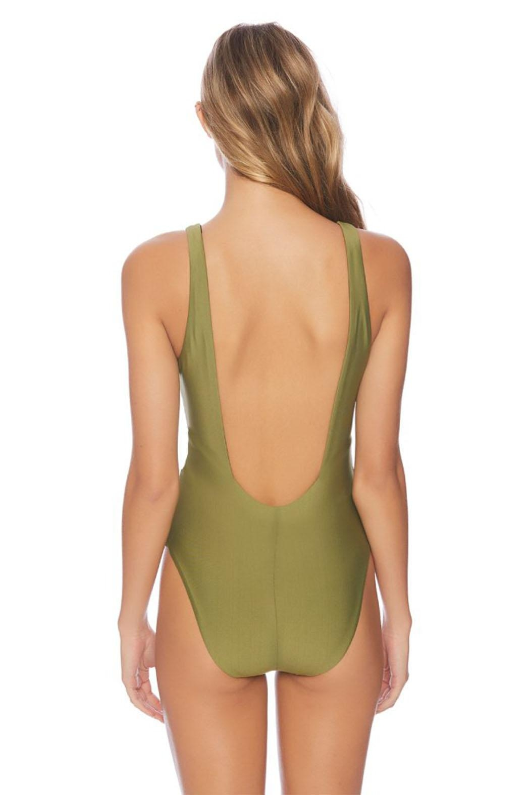 Vyb Olive Plunge One-Piece - Side Cropped Image