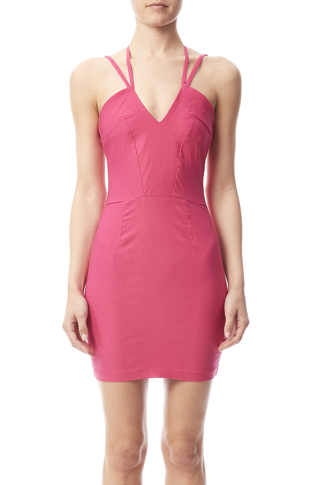 W by Wenjie Pink Cross-Back Dress - Side Cropped Image