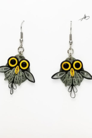 Iconic Quilling w101 Owl earrings - Product Mini Image