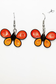 Iconic Quilling w102 Butterfly Earrings - Product Mini Image