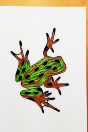 Iconic Quilling w225 Frog Card 5x7 - Product Mini Image