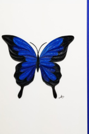 Iconic Quilling w241 Blue Butterfly Card 5x7 - Product Mini Image