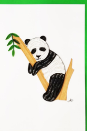 Iconic Quilling w242 Panda In Tree Card 5x7 - Product Mini Image