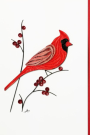 Iconic Quilling w253-Cardinal Card 5x7 - Product Mini Image