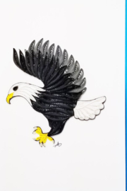 Iconic Quilling w255-Eagle Card 5x7 - Product Mini Image