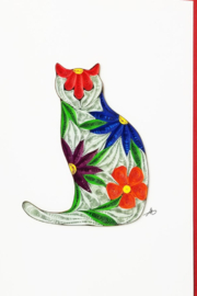 Iconic Quilling w256-Cat Card 5x7 - Product Mini Image