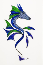 Iconic Quilling w257-Dragon Card 5x7 - Product Mini Image