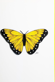Iconic Quilling w284 Yellow Butterfly 5x7 - Product Mini Image