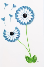 Iconic Quilling w317 Dandelion 5x7 Card - Product Mini Image