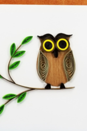 Iconic Quilling w39-Owl Card 4x4 - Product Mini Image