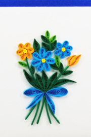 Iconic Quilling w50-Flower Bouquet Card 4x4 - Product Mini Image