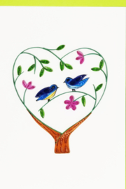 Iconic Quilling w608 B Heart Tree Card 5x7 - Product Mini Image