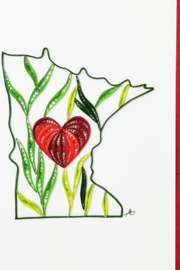 Iconic Quilling w713-Minnesota Card 5x7 - Product Mini Image