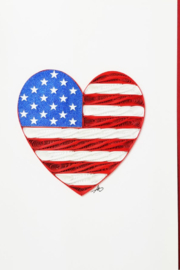 Iconic Quilling w726 Heart Flag Card 5x7 - Product Mini Image