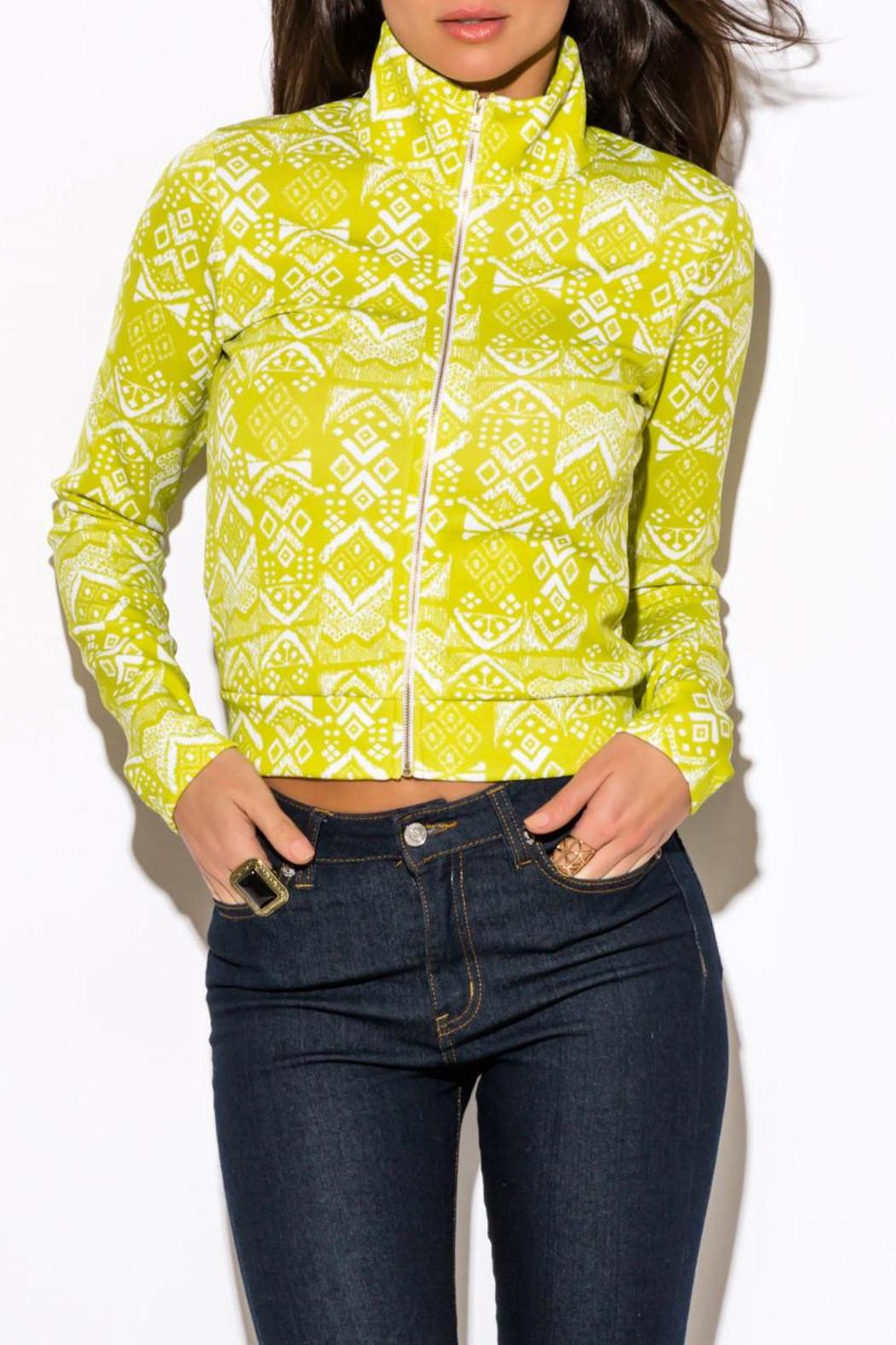 W by Wenjie Lime Green Jacket from Illinois by Bridal Elegance