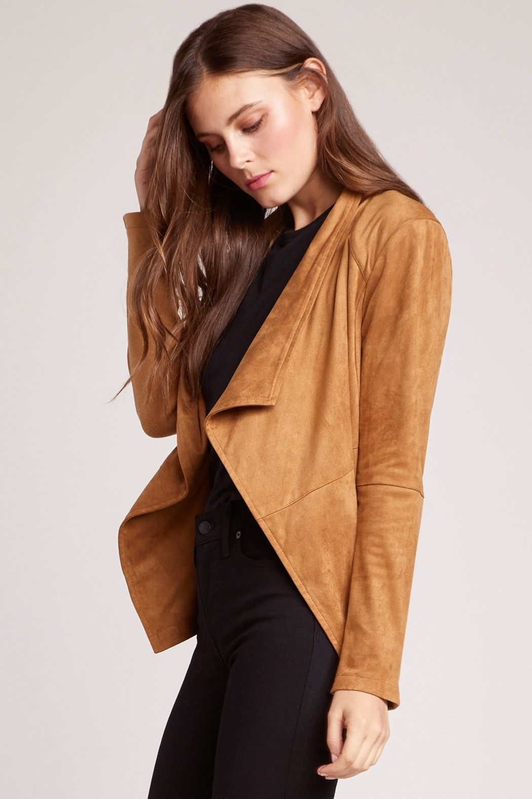 BB Dakota Wade Faux Suede Jacket - Front Full Image