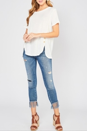 Entro Waffle Button Top - Side cropped