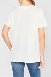Entro Waffle Button Top - Front full body