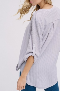 Listicle Waffle Buttoned Blouse - Alternate List Image