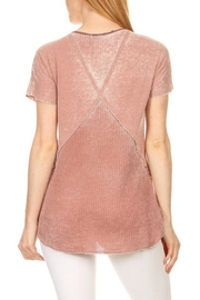 T-Party Fashion Waffle-Combo Swing Top - Front full body