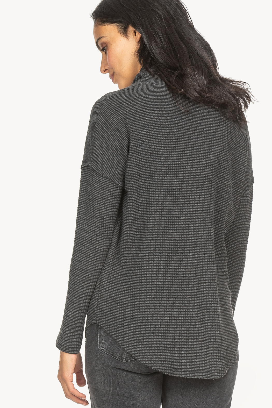Lilla P Waffle Cowl Top - Front Full Image