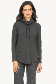 Lilla P Waffle Cowl Top - Front cropped