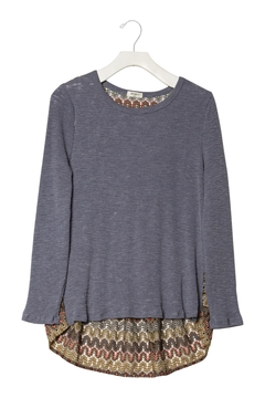 Dylan by True Grit Waffle Crew With Crochet Back - Alternate List Image
