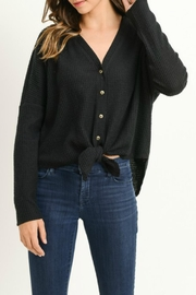 Gilli Waffle-Knit Button-Up Top - Product Mini Image