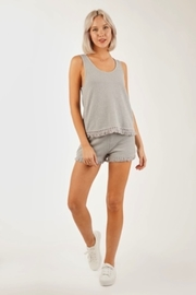 Very J  Waffle Knit tank top - Side cropped